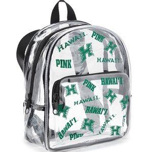 VS Pink Univ of Hawaii Clear Mini Backpack